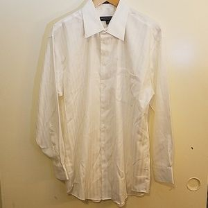 PRONTO UOMO COUTURE White Herringbone Shirt
